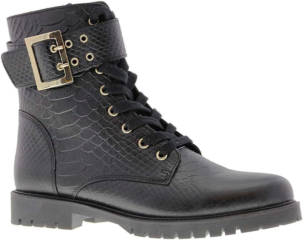 Tango   Bee 524-b Black Anaconda Boot/Strap/Buckle Gold - Black Sole   Maat: Schwarz