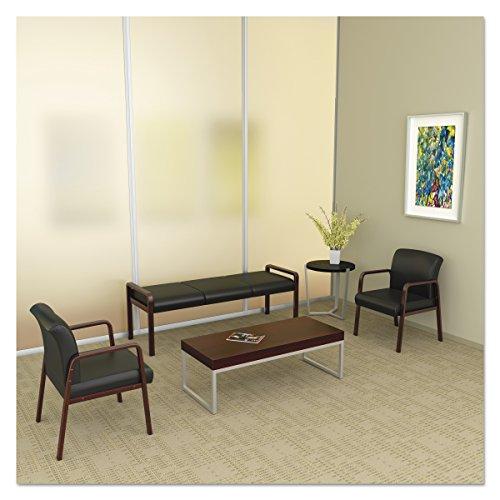Alera ALERL2419M Reception Lounge WL Series Bench, 65 3/4 x 22 1/4 x 22 7/8, Black/Mahogany by Alera (Image #6)