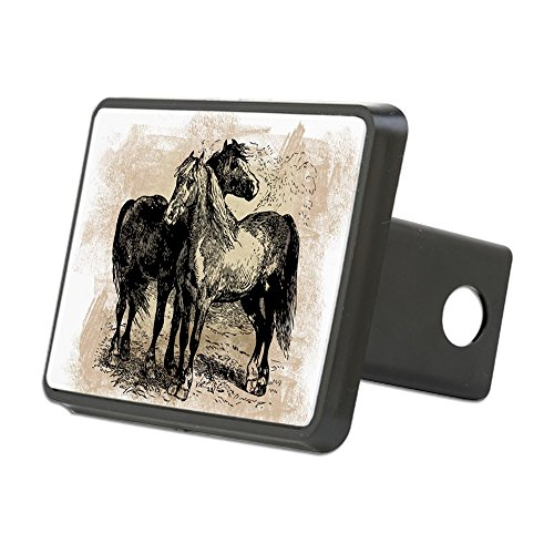CafePress - Vintage Horse Love - Trailer Hitch Cover, Truck Receiver Hitch Plug Insert