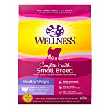 Wellness Natural Pet Food 89119 Complete Health Natural Dry Small Breed Healthy Weight Dog Food, Turkey & Rice, 12-Pound Bag