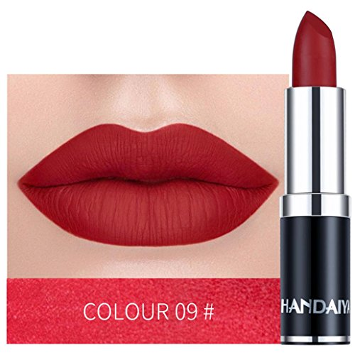 DEESEE(TM) Long Lasting Lipstick 12Colors Waterproof Lipstick Matte Pumpkin Color Lipstick Eat Earth Rich Vitamin E Moistu (I)
