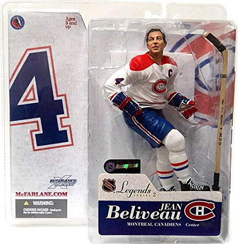 McFarlane Toys NHL Sports Picks Legends Series 2 Action Figure Jean Beliveau (Montreal Canadiens) White Jersey Variant ()
