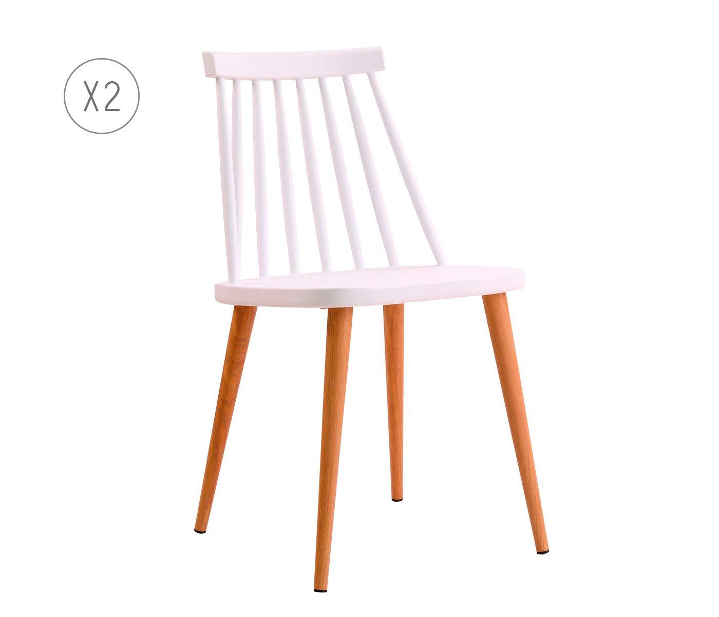 Silla Fanett de Diseño Blanca: Amazon.es: Hogar