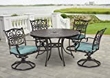 Hanover TRADDN5PCSW-BLU 5 Piece Traditions Dining Set with 4 Swivel Rockers Review