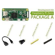 Raspberry Pi Zero V1.3 1GHz CPU 512MB Pi 0 Package A Basic Development Kit + Mini HDMI to HDMI Adapter + Micro USB OTG Cable + 2x20-pin Pinheader Strips