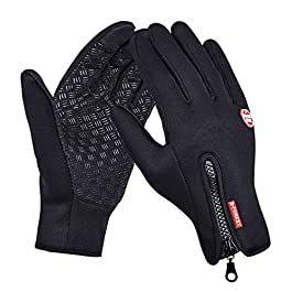 GEREE Windproof Cycling Gloves Full Finger Touchscreen (X-Large )
