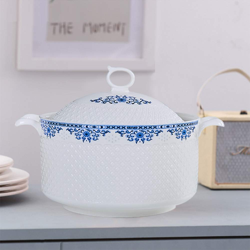 Cookware bottom cast iron,casserole dishes with lids hob to oven induction ceramic stove ceramic casserole soup ceramic pot High temperature resistance Gift for family-blue