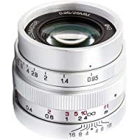 Mitakon Zhongyi Speedmaster 25mm f/0.95 Lens for Micro Four Thirds Camera, Silver