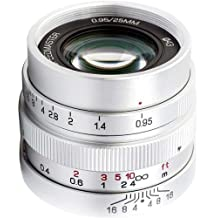Mitakon Zhongyi Speedmaster 25mm f/0.95 Lens for Micro Four Thirds Camera, Silver