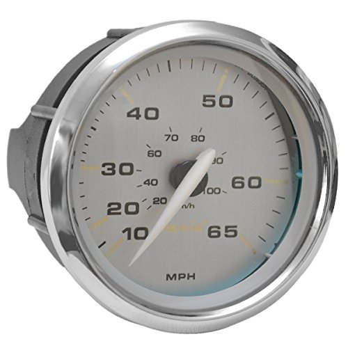 Kronos Faria Boat Speedometer Gauge SE9599A Silver 3 1/4 Inch 65 MPH ()