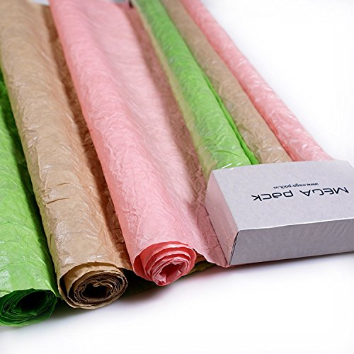 Chocolate Wrapping Paper (Wrapping Paper - Unique Gift Wrap Paper With Silver Metallic Covering - 3 Paper Rolls Per Set - 2 ft x 5 ft (Green, Pink, Beige))