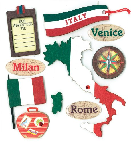 K&Company Italian Destination Grand Adhesions Stickers