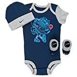omega 3 6 caps - NIKE 3-Piece Infant GIFT SET! Booties, Bodysuit, Cap 0-6 Months (Omega Blue/Cool Grey)