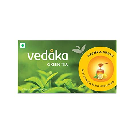 Amazon Brand � Vedaka Green Tea, Lemon and Honey, 25 Bags