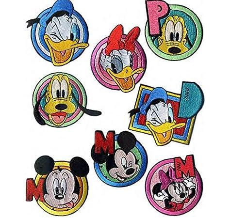 8 parches mickey bordado bordados para planchar REF.3431-U8