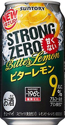 乱すポータブルキャプションサントリー -196℃ ストロングゼロ ビターレモン 350ml