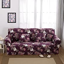 "Hotniu Printed Sofa Slipcovers for 3 Cushion Couch Sectional Seat Covers(4 Seater Sofa for 92""-118"", Pattern #5)"