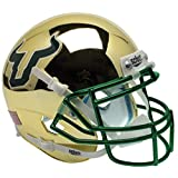 SOUTH FLORIDA BULLS Schutt AiR XP Full-Size REPLICA Football Helmet USF (GOLD CHROME)