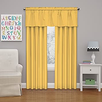 ECLIPSE Kids Microfiber Blackout Window Curtain Panel, Mimosa, 95 , 42×95,