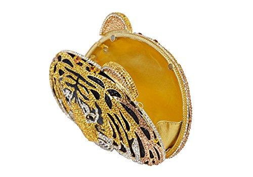 Lady Dazzle Full Diamond Clutch Tiger Head Evening Bag Bling Rhinestone Chain Cross Body Bag Animal Purse (Gold 1) by nice--buy (Image #8)