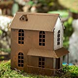 Miniature Rusty Primitive 2 Story Rusty Metal House with Patio for Fairy Gardens, Dollhouses, and Crafting For Sale