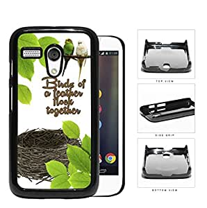 Birds Of A Feather Flock Hard Plastic Snap On Cell Phone Case Motorola Moto G by icecream design
