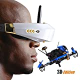 Walkera F210 Deluxe Racing Drone Add 3D Edition with 5.8G Goggle-3 3D Glasses/Devo 7/Transmitter 700TVL Night Vision Camera/OSD RTF/Battery/Brushless Motor RC Helicopter Quadcopter