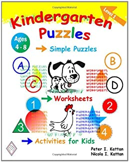 math worksheet : kindergarten puzzles  level 1 simple puzzles worksheets and  : Kindergarten Puzzle Worksheets