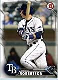 2016 Bowman Prospects #BP96 Daniel Robertson Tampa Bay Rays Baseball Card in Protective Screwdown Display Case