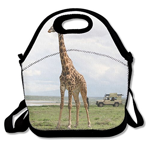 (Surviving The Serengeti Wild Giraffe Animal Insulated Lunch Bag - Neoprene Lunch Bag - Large Reusable Lunch Tote Bags For Women, Teens, Girls, Kids, Baby, Adults Portable)