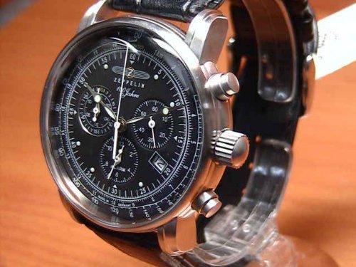 ツェッペリン ZEPPELIN 100周年記念モデル ブラック×ブラック 76802 [国内正規品] メンズ 腕時計 時計 B007SHRNKI