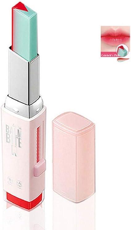 1 UNID Maquillaje Lápiz Labial Dos Tonos de Larga Duración Hidratante Gradiente Lápiz Labial Labio Brillo Tinte Impermeable Barra de Labios Regalo ...