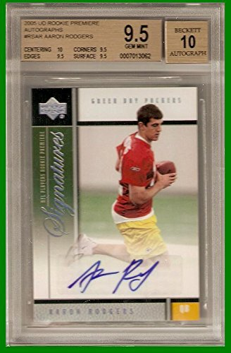 BGS 9.5 Aaron Rodgers 2005 Premiere Auto Autographed for sale  Delivered anywhere in USA