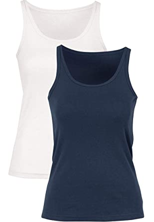 cf46697f6 Ellos Women s Plus Size 2-Pack Ribbed Knit Tank Top at Amazon ...