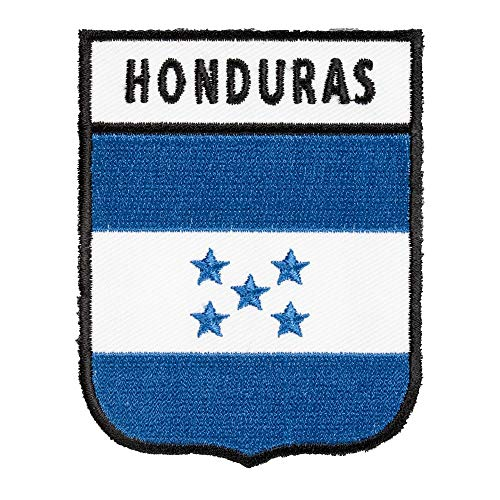 Honduras Flag Shield Patch, Central American Flag Patches (Honduras Jacket)