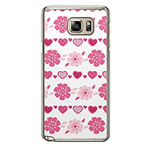 Loud Universe Samsung Galaxy Note 5 Love Valentine Printing Files A Valentine 25 Printed Transparent Edge Case - White/Pink