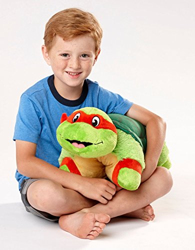 "51 bH7vRaXL - Pillow Pets Nickelodeon Teenage Mutant Ninja Turtles Stuffed Animal Plush Toy 16"", Raphael"