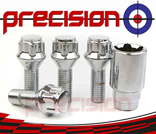 Chrome Locking Alloy Wheel Bolts for Ṿauxhall Meriva Part No.B17292 Precision