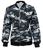 Generic Womens Camo Military Style Short Bomber Jacket XL