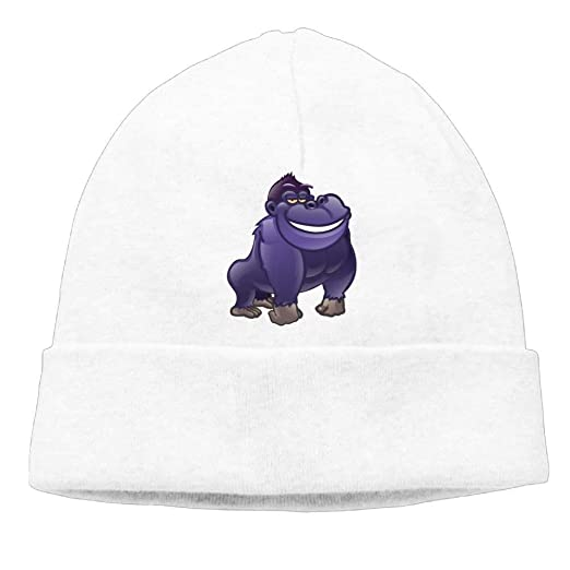 219913b0153 Image Unavailable. Image not available for. Color  Beanies Hat Knit Cap  Man s Interesting Animal Gorilla Winter