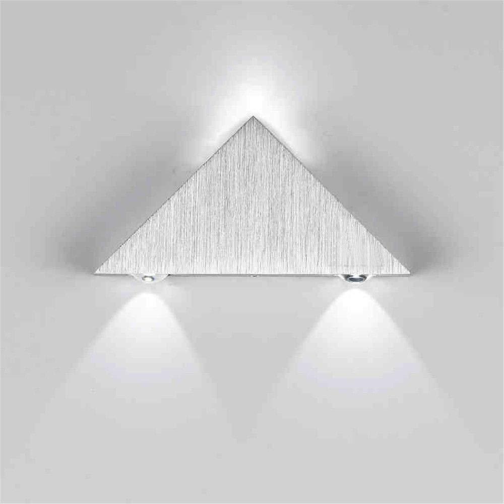 De Aluminio 3w Moderno Led Lámpara Aplique Triángulo Ac 4j5ARL