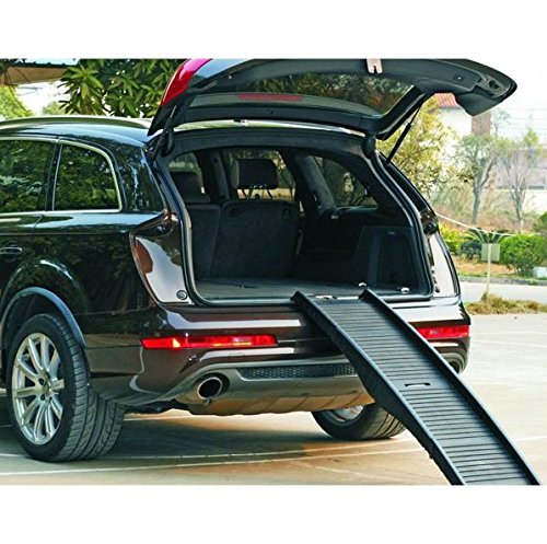 Barkshire Folding Dog Travel Ramp 152cm Length Helps Old, Small And Large Dogs Getting In And Out Of Cars Folds Into Suitcase Sized Box For Easy Storage