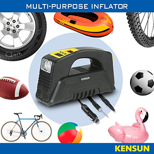 51 bIScH2wL - Kensun AC/DC Rapid Performance Portable Air Compressor Tire Inflator with Digit