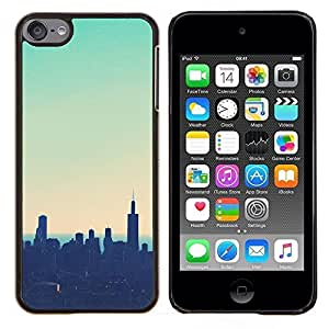 Eason Shop / Premium SLIM PC / Aliminium Casa Carcasa Funda Case Bandera Cover - Sunset trullo Nyc Nueva York - For Apple iPod Touch 6 6th Touch6
