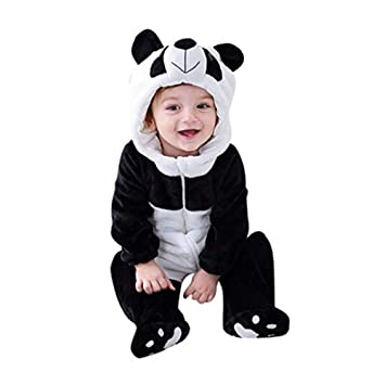 Toddler Kids  BabyPajamas Romper Kigurumi Animal Cosplay Hooded Jumpsuit Costume