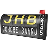 NEONBLOND JHB Airport Code for Johore Bahru Magnetic Mailbox Cover Custom Numbers