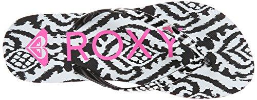 Roxy Mimosa V - Sandalias para mujer Negro / Blanco / Rosa (Black / White / Pink)