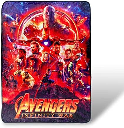 Avengers Infinity War Fleece Blanket Licensed Marvel Merchandise 45×60 Inches