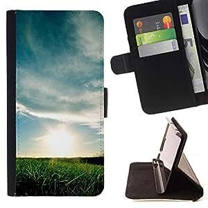 For Samsung Galaxy E5 E500 Case , Naturaleza Hermosa Forrest Verde 69- la tarjeta de Crédito Slots PU Funda de cuero Monedero caso cubierta de piel