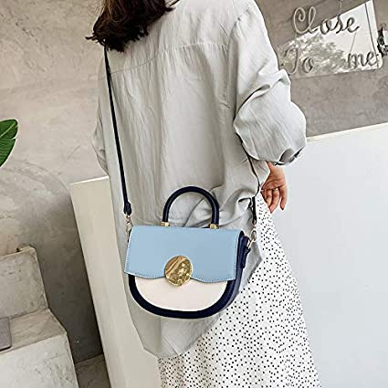 BAOBAOTIAN Fashion Hit Color Small Bag Female New Korean Version of The Small Fresh Saddle Bag Shoulder Bag Messenger Bag